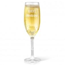 Medicine Champagne Glass