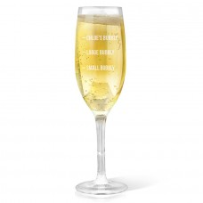 Bubbly Champagne Glass
