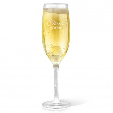 Groom Champagne Glass