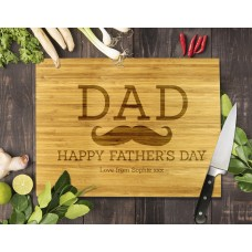 Dad Moustache Bamboo Cutting Board