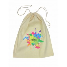 Splatter Design Drawstring Library Bag