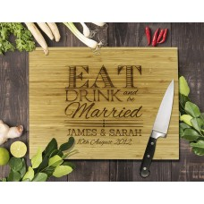 Eat Drink Bamboo Cutting Board