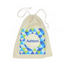 Geometric Drawstring Library Bag