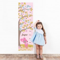 Pink Deer Wall Decal Height Chart