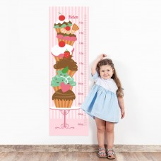 Cupcakes Wall Decal Height Chart