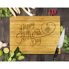 Happy Father's Day Bamboo Cutting Board