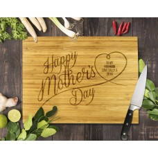 Happy Mother's Day Bamboo Cutting Board