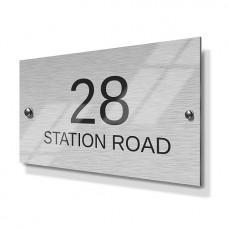 Horizontal Pattern Metal House Sign