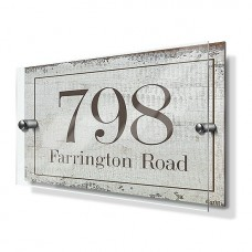 Rustic Effect Premium Acrylic Front House Sign