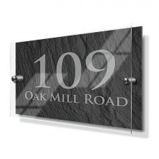 Slate Effect Premium Acrylic Front House Sign