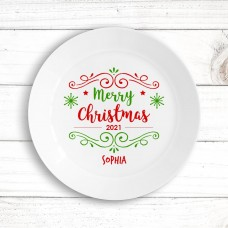 Merry Christmas Kids' Plate