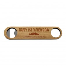 1st Father's Day Wooden Bottle Opener