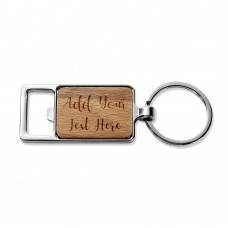 Add Your Own Message Rectangle Metal Keyring