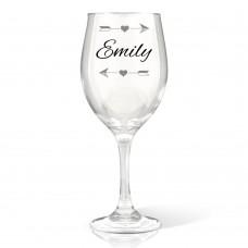 Arrows Wine Glass