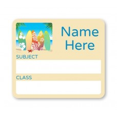 Beach School Book Label