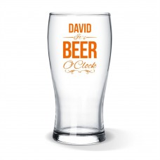 Beer O'Clock Standard Beer Glass