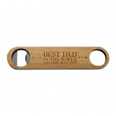 Best Dad Wooden Bottle Opener
