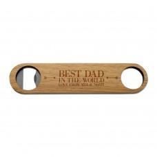 Best Dad Wooden Bottle Opener