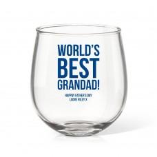 Best Grandad Stemless Wine Glass