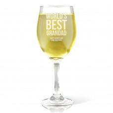 Best Grandad Engraved Wine Glass