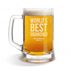Best Grandad Glass Beer Mug