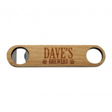 Brewery Wooden Bottle Opener