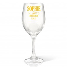 Bridal Party Wine Glass
