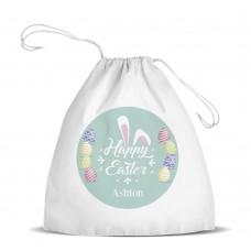 Bunny Ears White Drawstring Bag