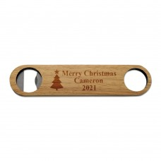 Christmas Tree Wooden Bottle Opener