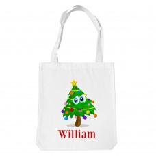 Christmas Tree White Tote Bag