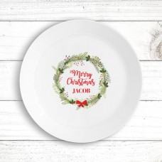 Christmas Wreath Kids' Plate
