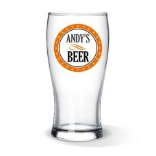 Circle Design Standard Beer Glass