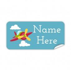 Aeroplane Rectangle Name Label