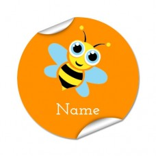 Bee Round Name Label