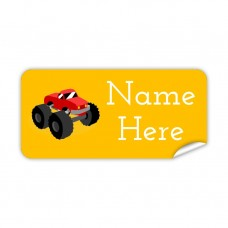 Big Truck Rectangle Name Label