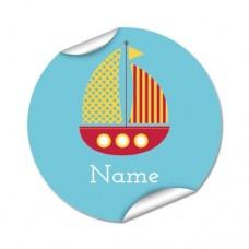 Boat Round Name Label