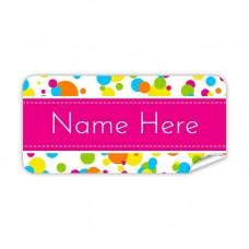 Bubbles Rectangle Name Label