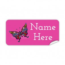 Butterfly Rectangle Name Label