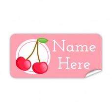 Cherry Rectangle Name Label