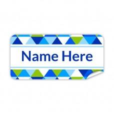 Geometric Rectangle Name Label