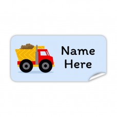 Truck Rectangle Name Label