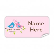 Two Birds Rectangle Name Label