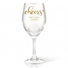 Couple Cheers Wine Glass