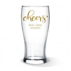 Couple Cheers Standard Beer Glass