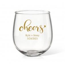Couple Cheers Stemless Wine Glass