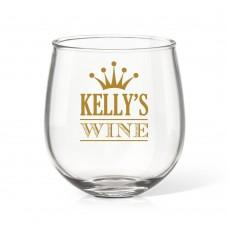 Crown Stemless Wine Glass