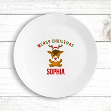 Cute Reindeer Kids' Plate