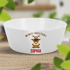 Cute Reindeer Kids' Bowl