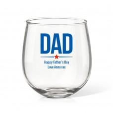 Dad Stemless Wine Glass