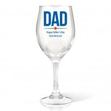 Dad Wine Glass